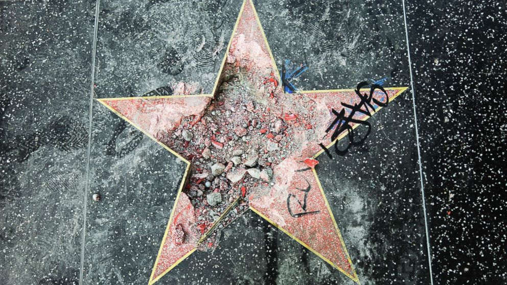 President Trump's Hollywood Walk of Fame star was smashed to pieces
