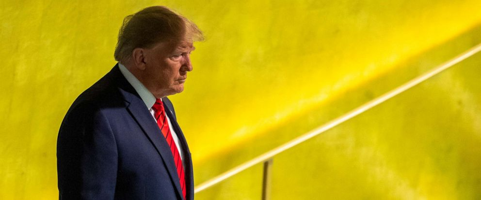 PHOTO: President Donald Trump arrives to address the 74th session of the United Nations General Assembly at U.N. headquarters, Sept. 24, 2019.