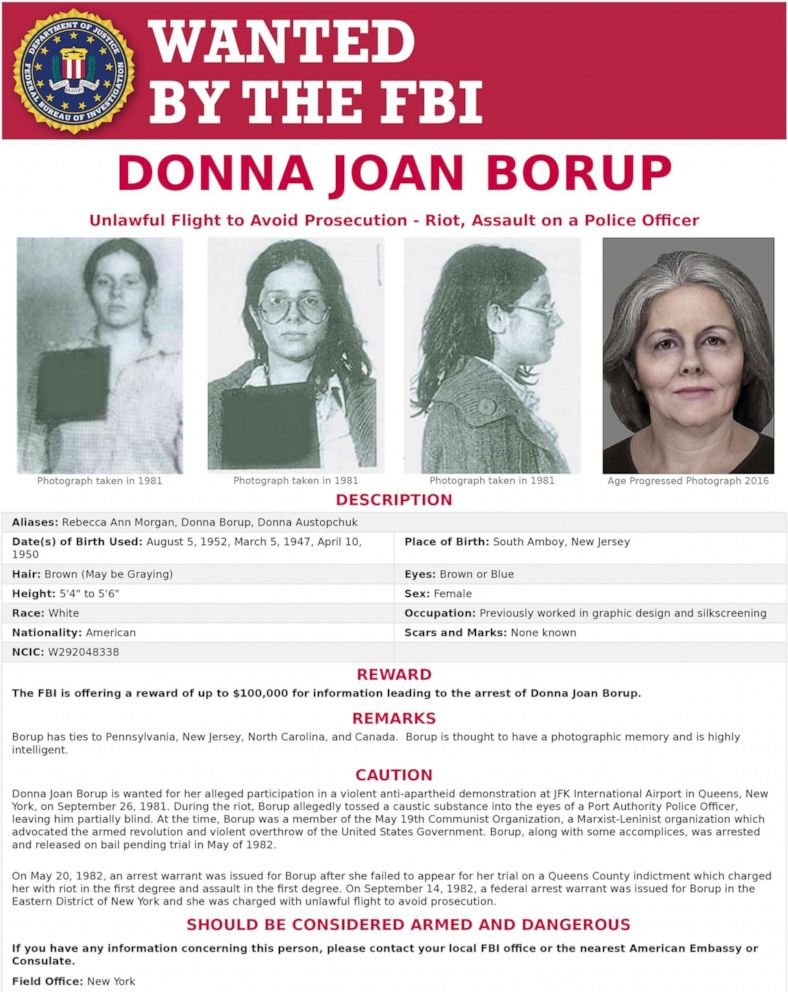 PHOTO: The FBI has released this poster in an effort to locate Donna Borup.