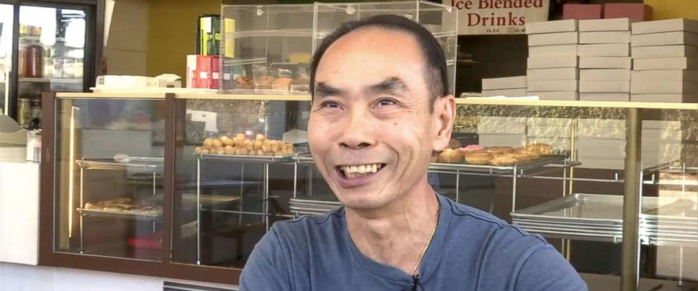 PHOTO: Donut shop owner John Chhan is grateful for the support of his customers in Seal Beach, Calif. When his wife, Stalla, fell ill, they bought up his daily supply so he could close shop and head home to take care of her.