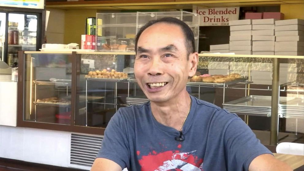 Donut shop owner John Chhan is grateful for the support of his customers in Seal Beach, Calif. When his wife, Stalla, fell ill, they bought up his daily supply so he could close shop and head home to take care of her.