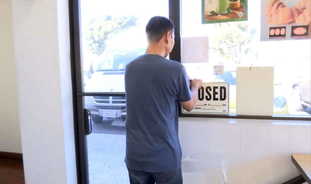 PHOTO: Donut shop owner John Chhan gets ready to close up his shop in Seal Beach, Calif. When his wife, Stalla, fell ill, customers bought up his daily supply so he could close shop and head home to take care of her.