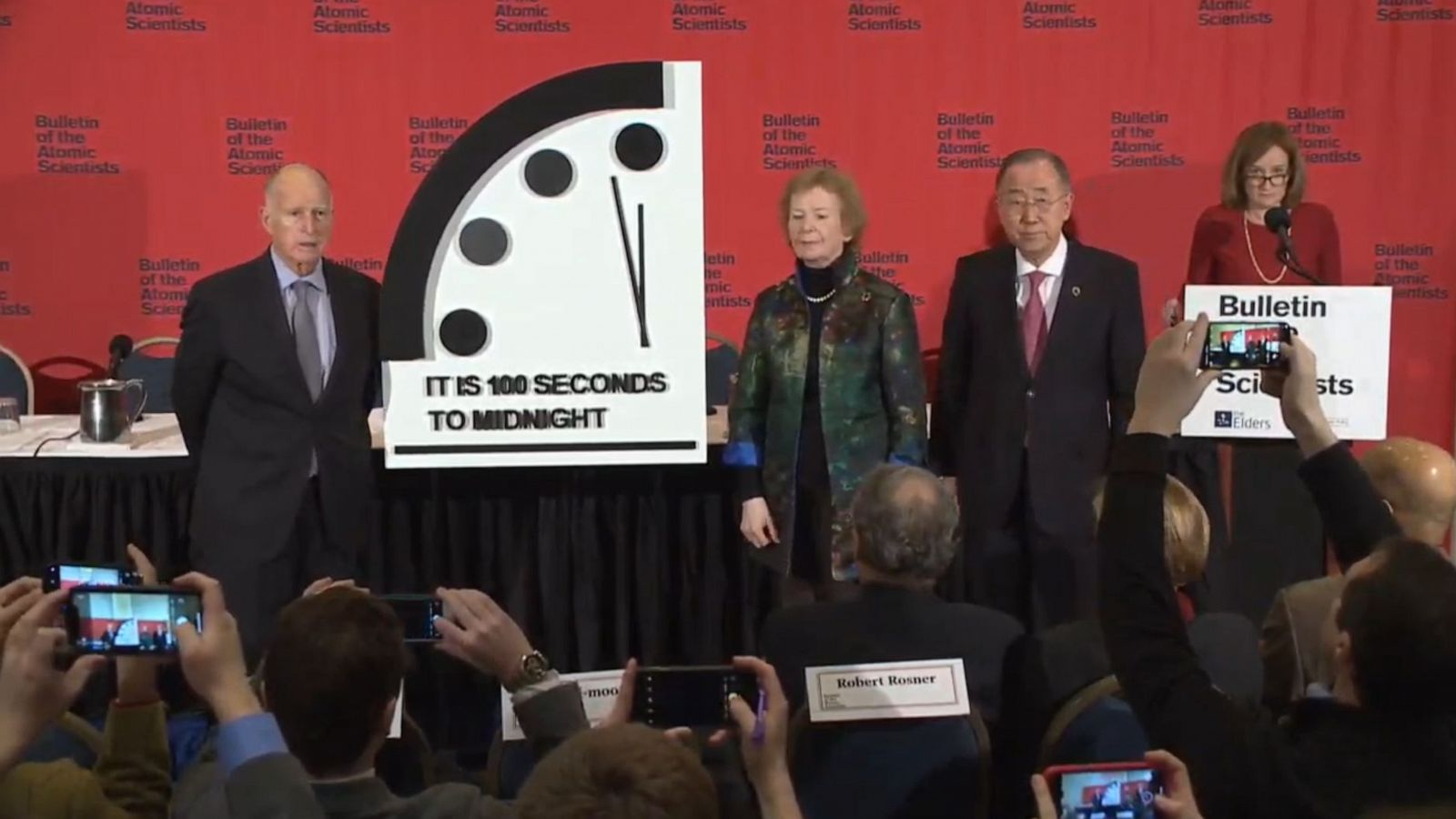 Doomsday Clock Moved 20 Seconds Closer To Catastrophe Abc News