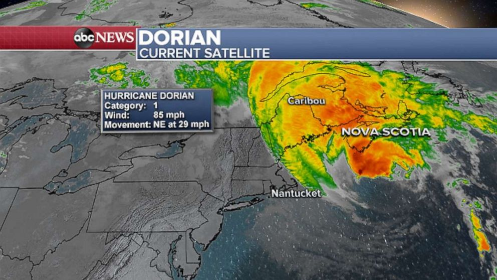 PHOTO: Dorian Current Satellite.