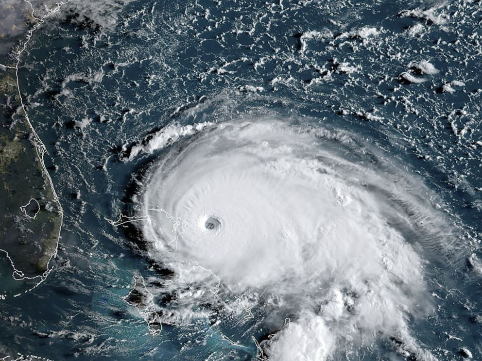 PHOTO: Hurricane Dorian approaches the Bahamas and Florida at 8:00 a.m. EST, Sept. 1, 2019.