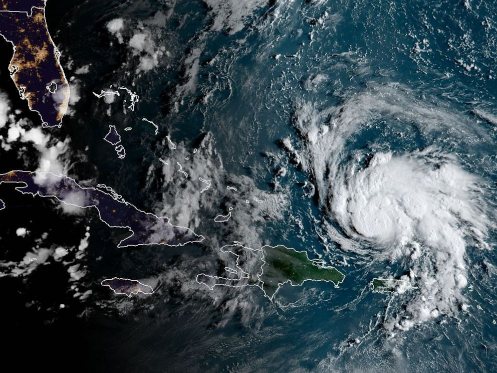 PHOTO: This satellite image obtained from NOAA/RAMMB, shows Hurricane Dorian as it passes Puerto Rico, at 7:30 EST, Aug. 29, 2019.