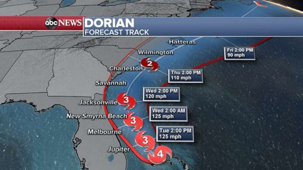PHOTO: The storm is forecast to hug the Southeast coastline over the next few days.