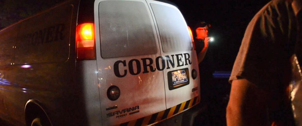 PHOTO: The Berks County coroner responded to Douglass Township, Pa., after a pregnant woman and her 8-year-old son drowned in their car on Thursday, July 11, 2019.