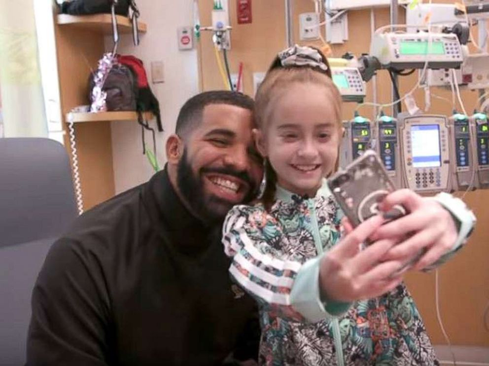 Drake Visits 11-Year-Old Heart Patient For Her Birthday In Chicago