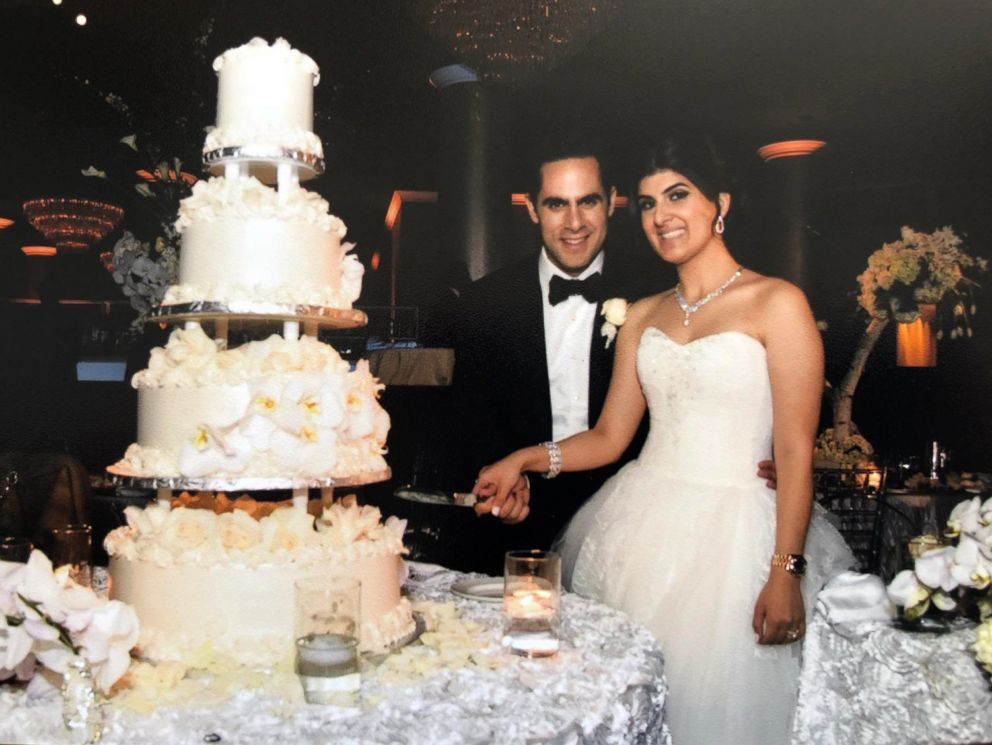 PHOTO: A wedding photo of Monika and Joseph Nourmand. Monika Nourmand was stuck by a drone during a light show at Caesars Palace Hotel and Casino in Las Vegas. A lawsuit has been filed in the incident.