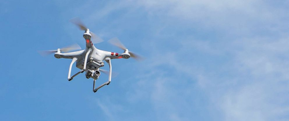 PHOTO: Stock photo of low angle view of a drone.