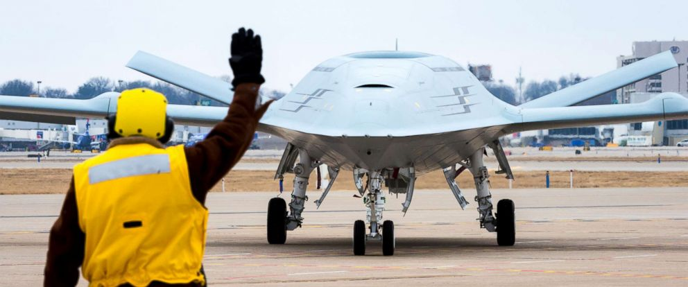 PHOTO: Boeing conducts MQ-25 deck handling demonstration at its facility in St. Louis, Mo., Jan. 29, 2018.