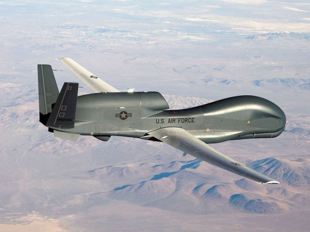 PHOTO: An undated U.S. Air Force handout photo of a RQ-4 Global Hawk unmanned (drone) aircraft.