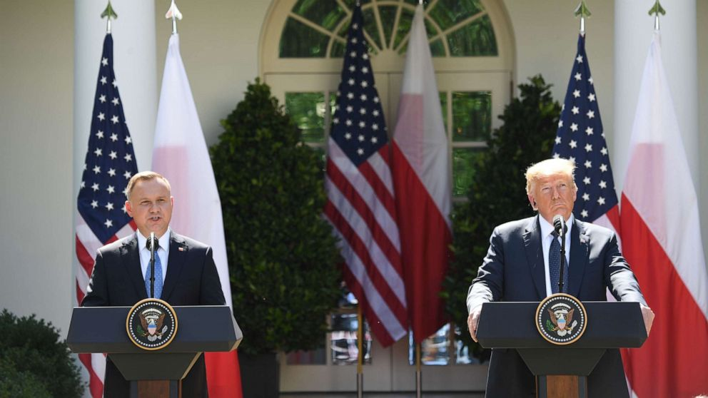 US: Trump hosts Poland's President Andrzej Duda in White House, plans of moving troops to Poland