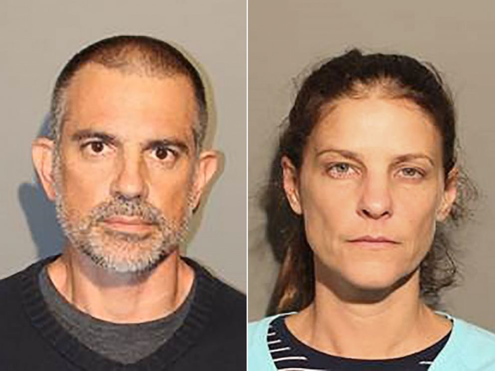 PHOTO: Fotis Dulos and Michelle Troconis in police booking photos.