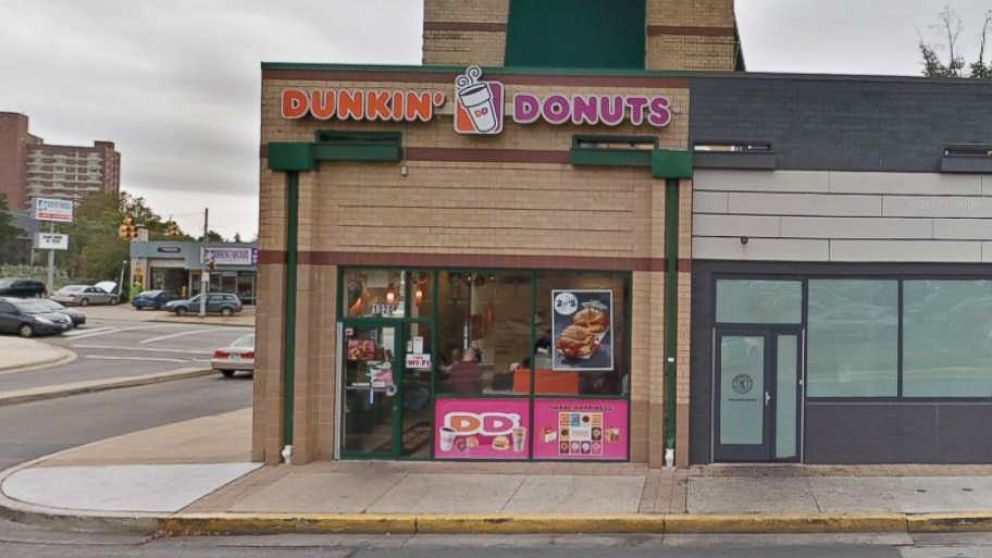 An image taken from Google Street View shows a Dunkin' Donuts location on 41st street in Baltimore, circa November 2017.