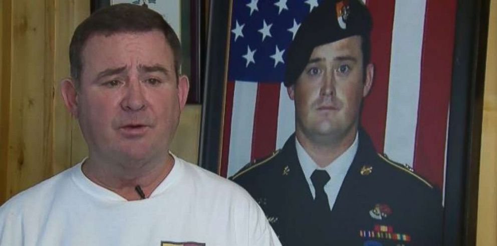 Arnold Wright, the father of Staff Sgt. Dustin Wright, spoke about the October 2017 attack in Niger that killed his son on Friday, May 11, 2018.