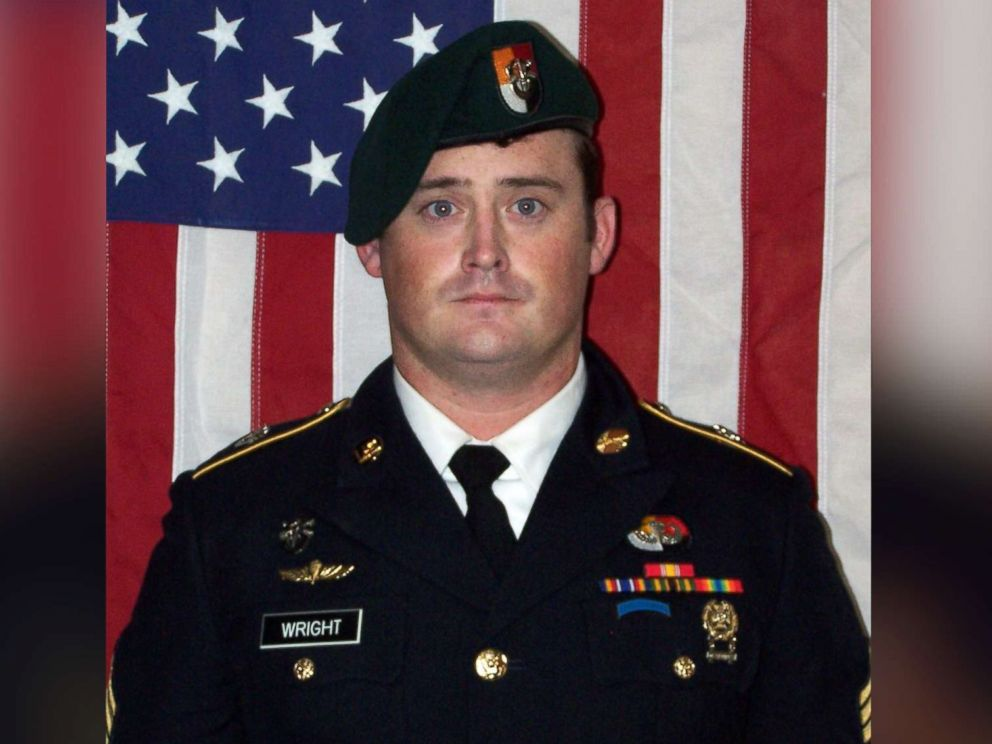 PHOTO: Staff Sgt. Dustin M. Wright, 29, of Lyons, Ga. is pictured in an undated handout image released by the US Army on Oct. 6, 2017.