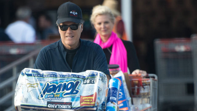 PHOTO: Mitt Romney and his wife Ann went shopping at CostCo early in December, 2012.