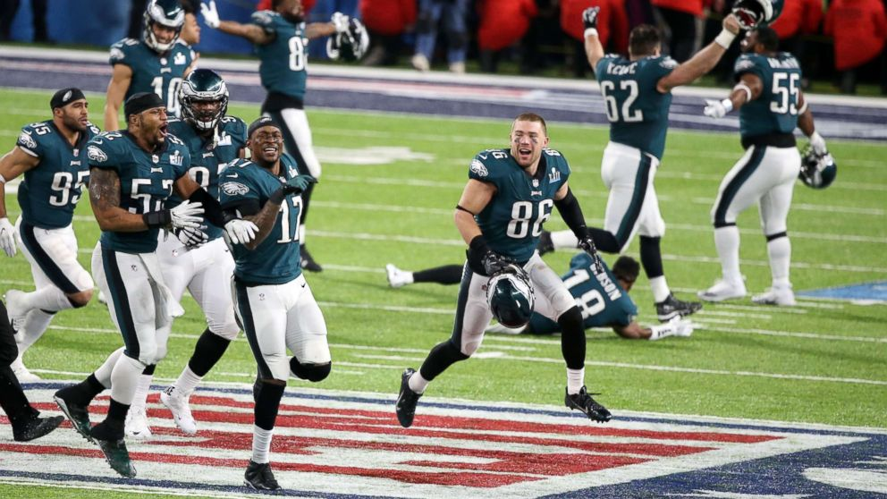 47ea398f8d1 The Philadelphia Eagles celebrate after defeating the New England Patriots  in Super Bowl LII at U.S.