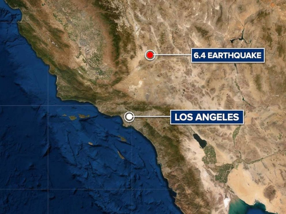 PHOTO: A 6.4 earthquake struck in Southern California about 150 miles from Los Angeles on July 4, 2019.