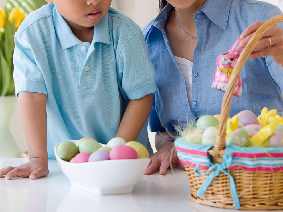 Easter reality check here is how much sugar can be in kids photo a woman looks at an easter basket with a small child in an undated negle Choice Image