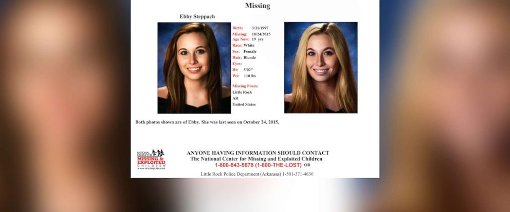 PHOTO: Missing poster for Ebby Steppach who went missing in Arkansas in 2015.