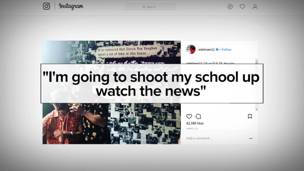 PHOTO: Police in Port Huron, Michigan, say Patriots receiver Julian Edelman may have thwarted a school shooting by reporting a threat posted on his Instagram.