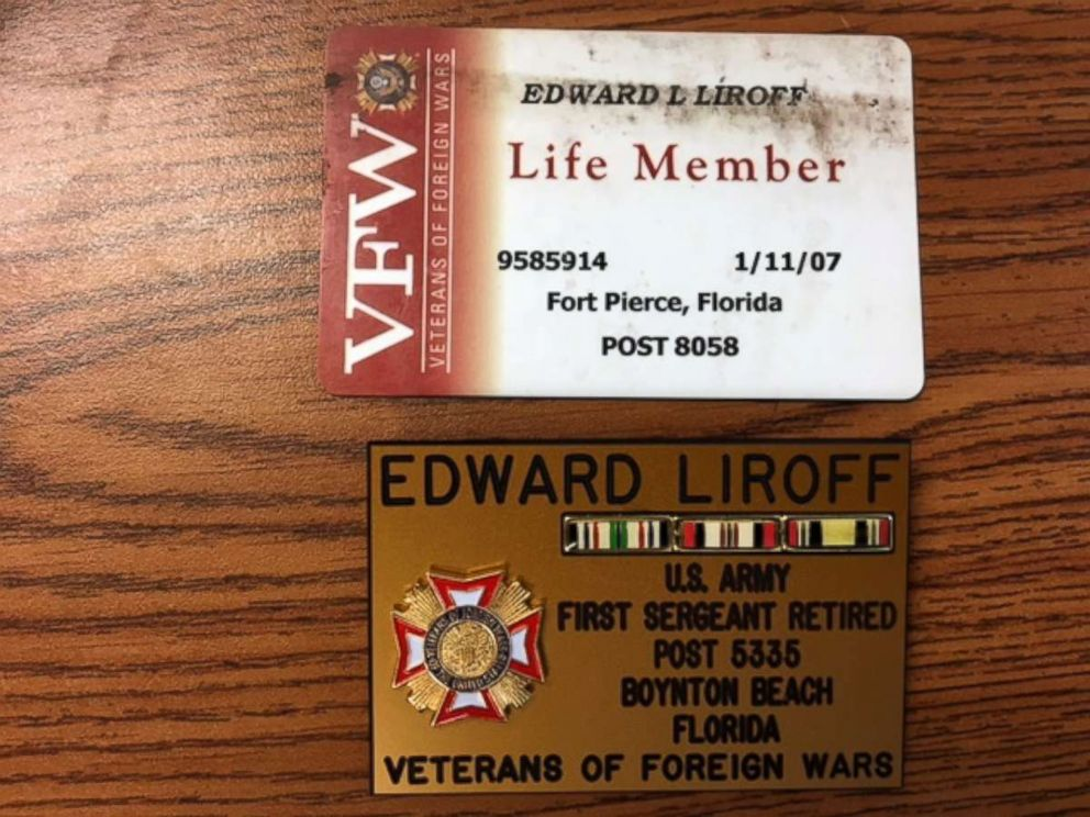 PHOTO: Items used by Edward Louis Liroff, 46, who was arrested for allegedly posing as a U.S. military veteran and claiming he had earned at least 21 medals and badges.