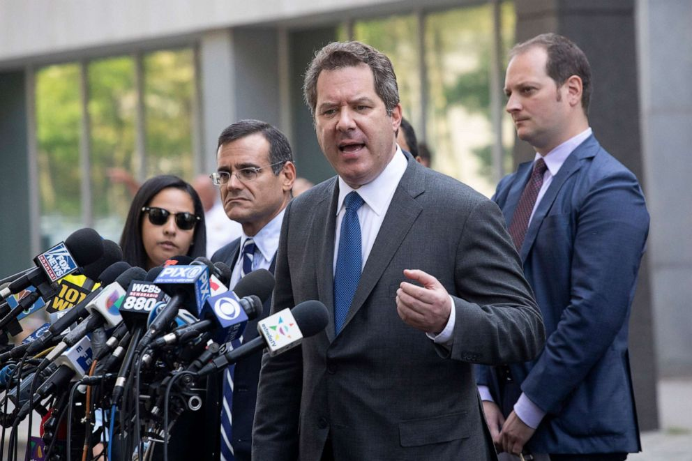 PHOTO: Jeffrey Lichtman, attorney for Mexican drug lord Joaquin El Chapo Guzman, speaks to the media in front of Brooklyn federal court following his clients sentencing, July 17, 2019, in New York.