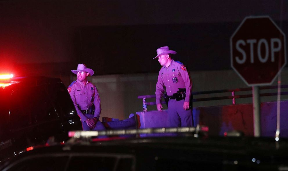 PHOTO: Police keep watch outside Walmart near the scene of a mass shooting, Aug. 3, 2019, in El Paso, Texas.