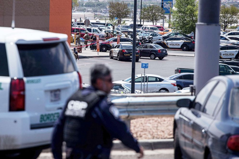 PHOTO: Law enforcement agencies respond to an active shooter at a Wal-Mart near Cielo Vista Mall in El Paso, Texas, Aug. 3, 2019.
