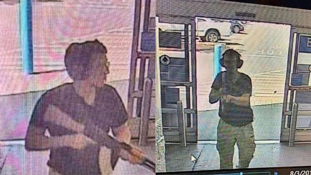 PHOTO: This CCTV image obtained by KTSM 9 news channel shows the gunman, identified as Patrick Crusius, as he enters the Cielo Vista Walmart store in El Paso on Aug. 3, 2019.