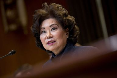 PHOTO: Elaine Chao, U.S. secretary of transportation, speaks during a Senate Appropriations Subcommittee hearing in Washington, D.C., March 27, 2019.