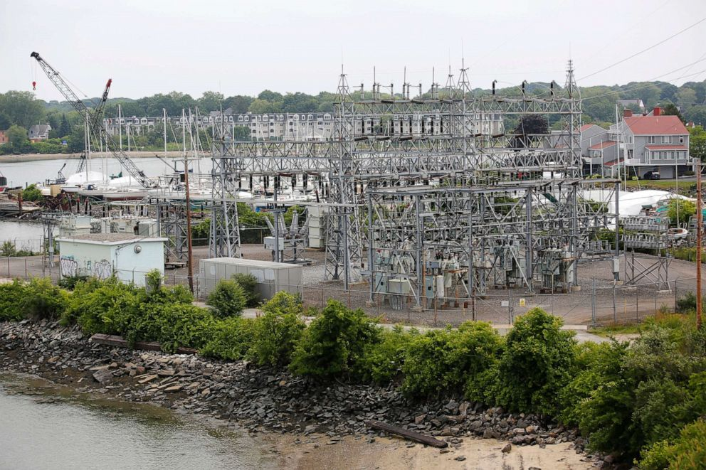 PHOTO: Central Maine Power Co. Cape Substation in South Portland, Maine, is shown in this July 2, 2018, file photo.