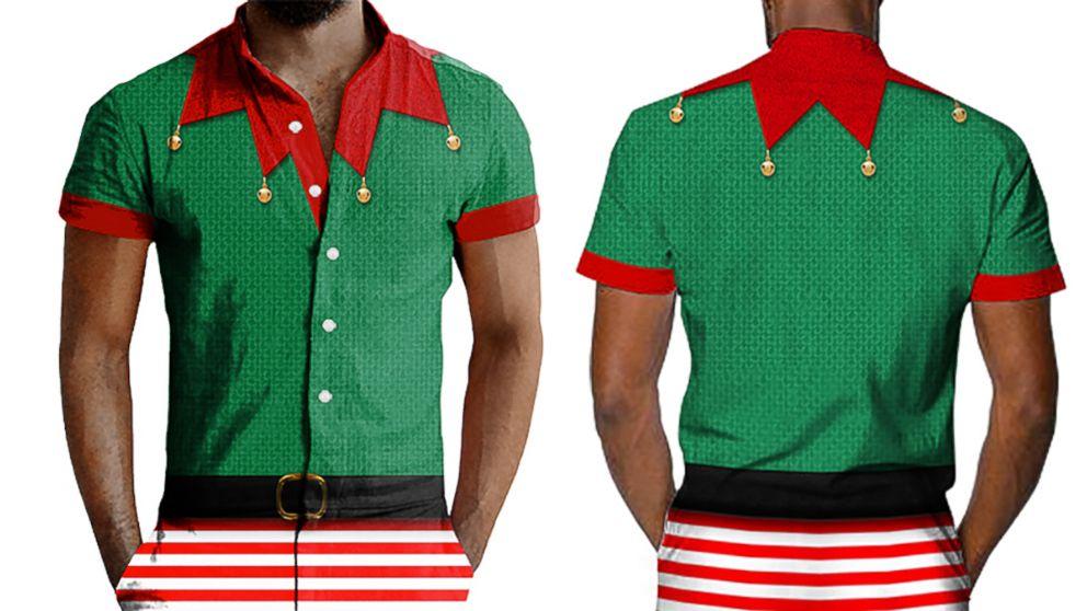 21f4dde80916 Elf Ugly Christmas Romper Back