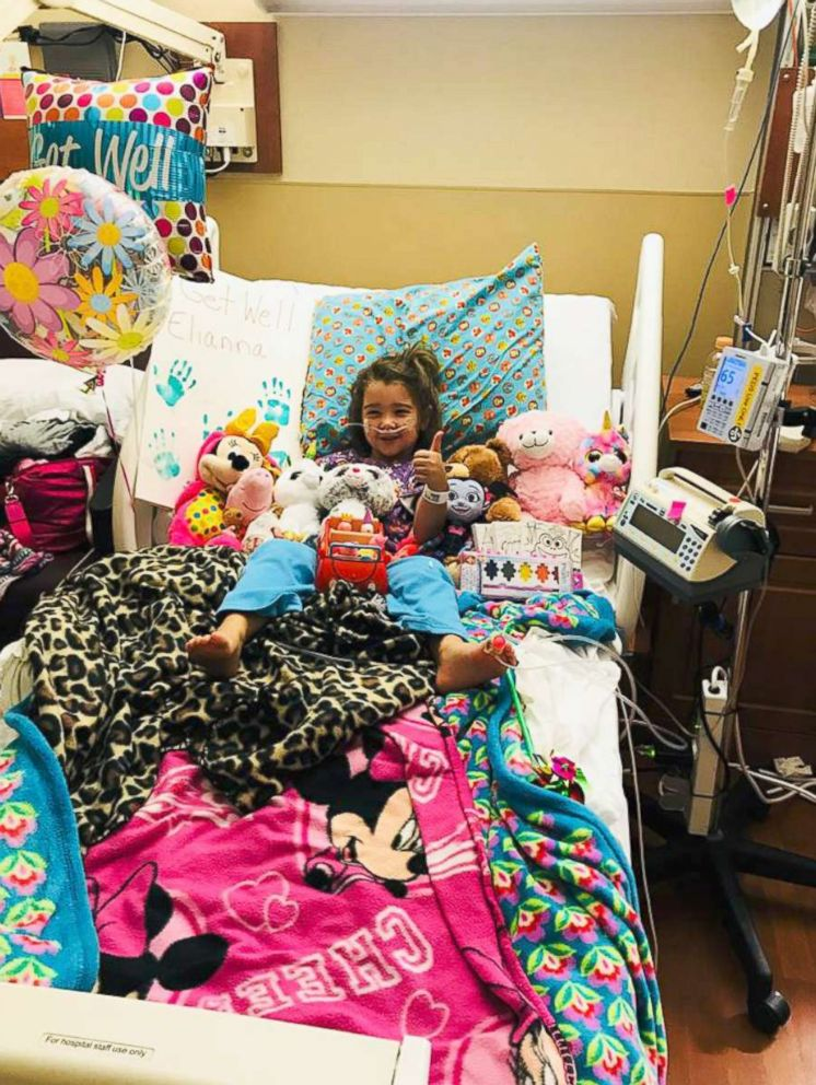 PHOTO: Eliana Grace, 4, receives treatment at a hospital in Sarasota, Florida, on April 19, 2018, days after inhaling water in her familys pool.