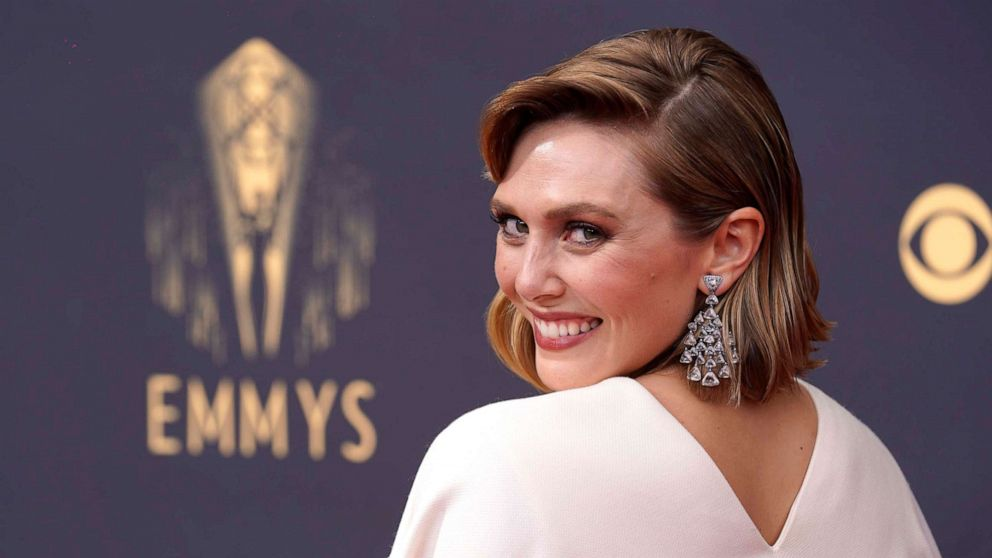Elizabeth Olsen wears dress designed by sisters Mary-Kate and Ashley to 2021 Emmys