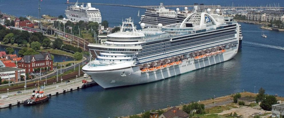 PHOTO: The cruise liner Emerald Princess is seen at the Cruise Terminal in Warnemuende, northern Germany, July 13, 2009.