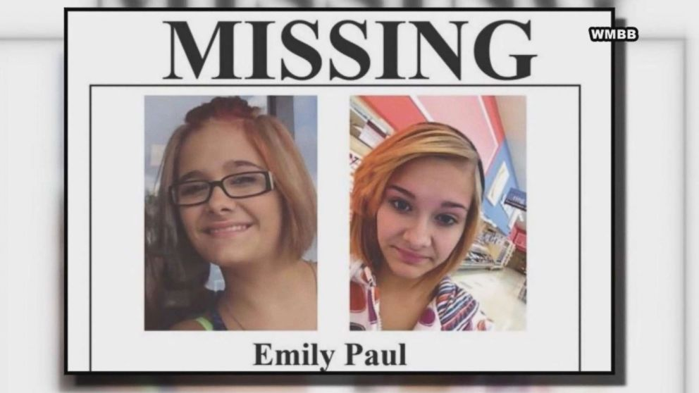 Emily Paul of Southport, Fla., is pictured in images shared on a missing poster released after she went missing in 2013.