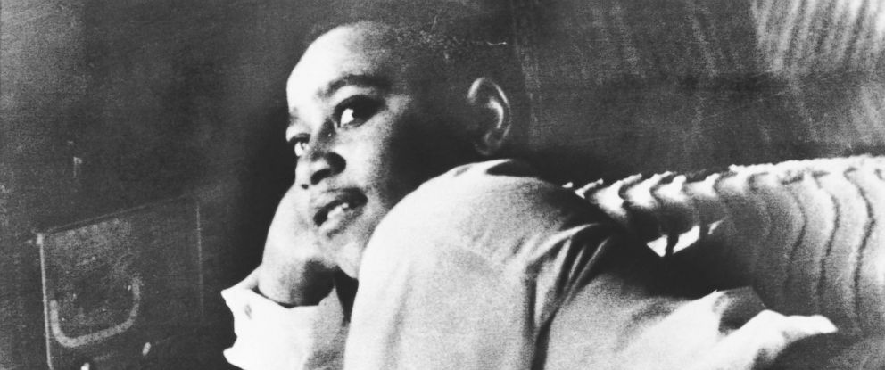 PHOTO: Emmett Till is shown lying on his bed in this undated photo.
