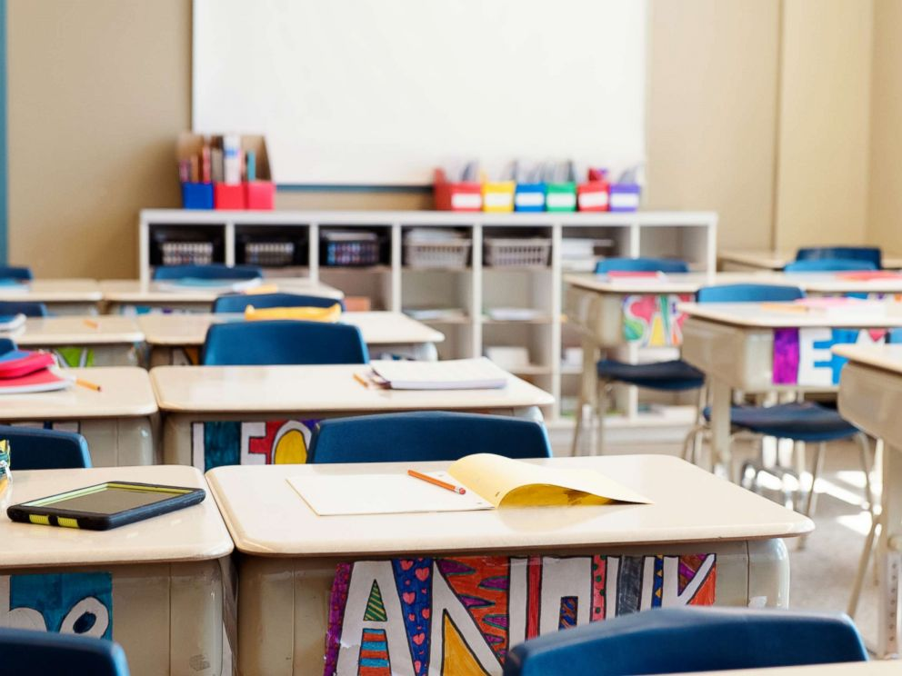 PHOTO: This stock photo depicts an empty classroom.
