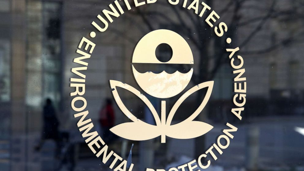 The U.S. Environmental Protection Agency's (EPA) logo is displayed on a door at its headquarters, March 16, 2017, in Washington, DC.