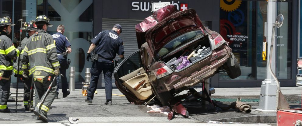 Times Square Car Accident On Thursday