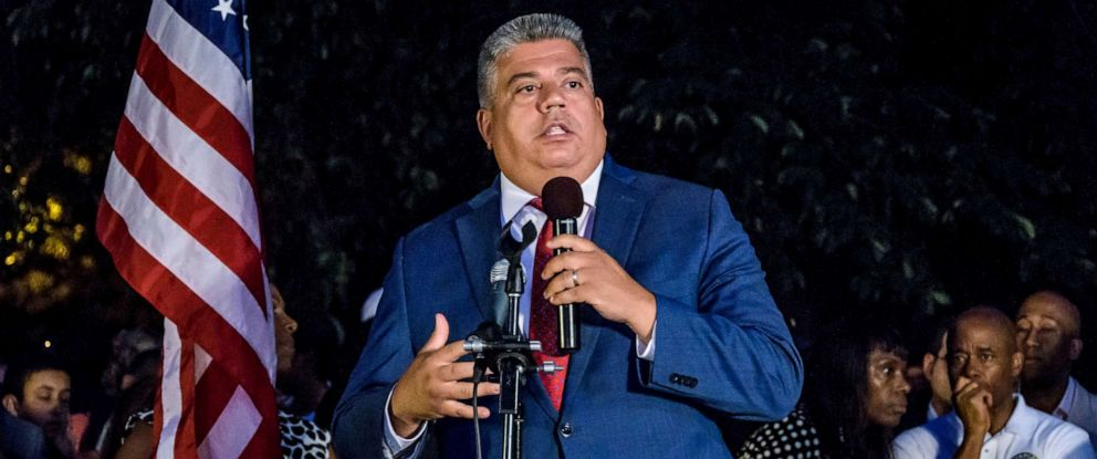 PHOTO: Brooklyn District Attorney Eric Gonzalez and other advocates gather for a candlelight vigil in Prospect Park to mourn the lives lost during recent mass shootings in Brownsville, Dayton, El Paso, and Gilroy, Aug. 5, 2019, in Brooklyn, New York.