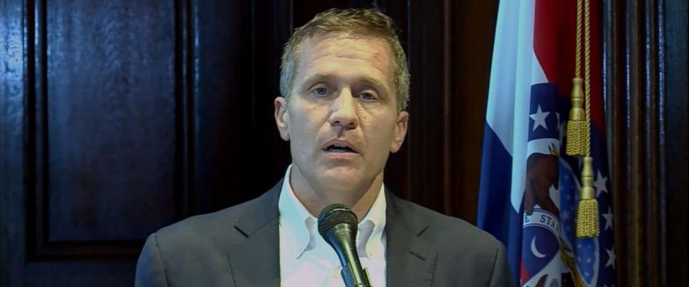 PHOTO: Missouri Gov. Eric Greitens announced his resignation in a press conference, May 29, 2018.