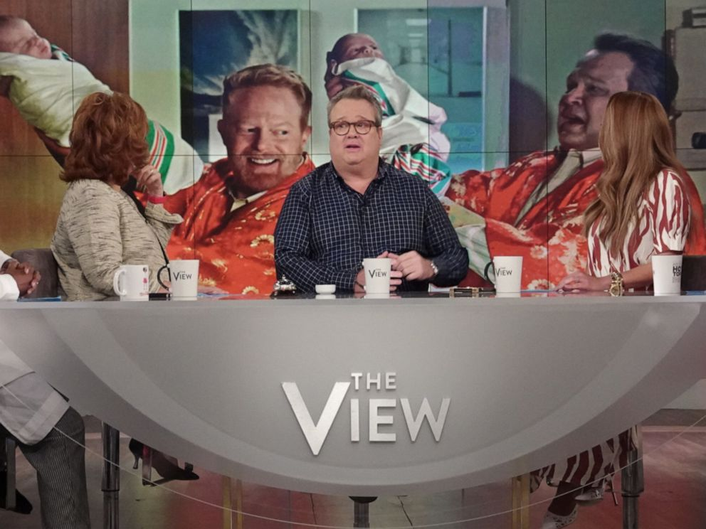 PHOTO: Modern Family actor Eric Stonestreet joins The View co-hosts Whoopi Goldberg, Joy Behar, Sunny Hostin, and Meghan McCain on Wednesday, May 22, 2019.