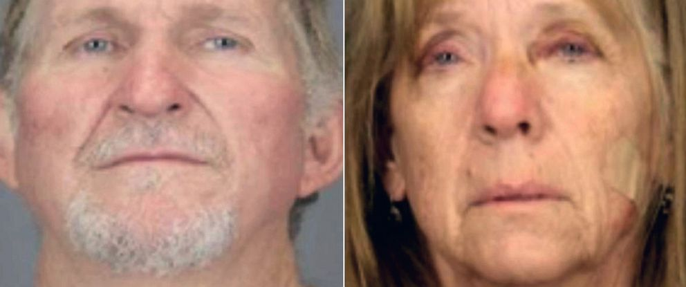 PHOTO: Blake Barksdale and Susan Barksdale in police booking photos.