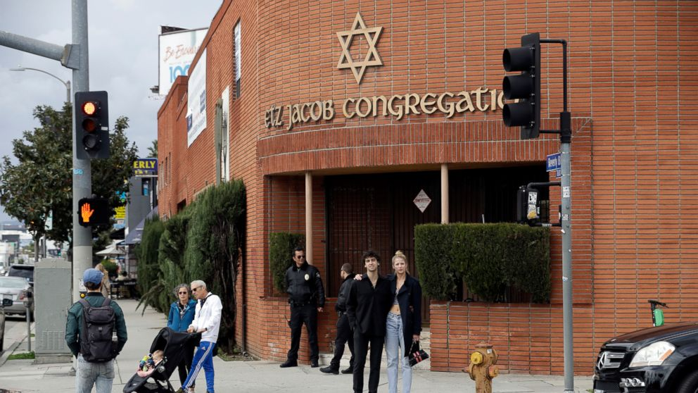 The exterior of the Etz Jacob Congregation/Ohel Chana High School building, Feb. 15, 2019, in Los Angeles.