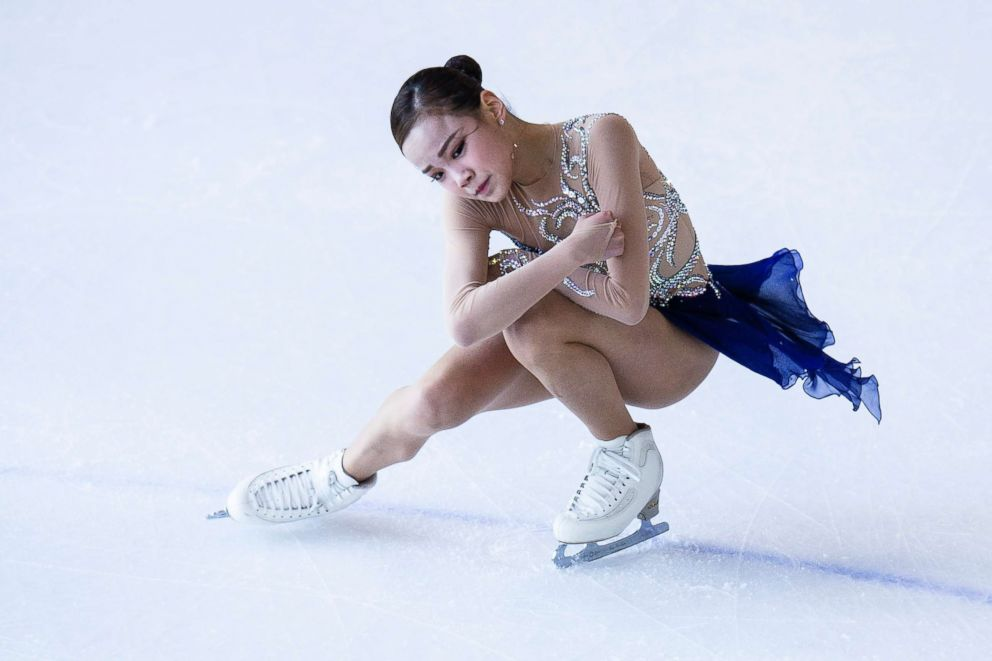 Eun Soo Lim of South Korea competes in Junior Ladies group during the Asian Open Figure Skating Trophy 2017, Aug. 5, 2017, in Hong Kong.